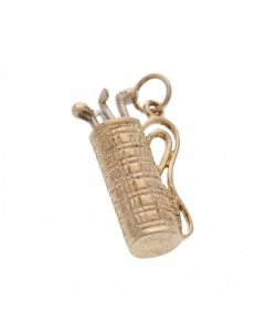 Pre-Owned 9ct Yellow Gold Set Of Golf Clubs Charm