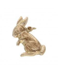 Pre-Owned 9ct Yellow Gold Hollow Rabbit Charm