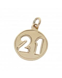 Pre-Owned 9ct Yellow Gold Age 21 Circle Disc Charm