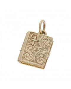 Pre-Owned 9ct Yellow Gold Bible Charm