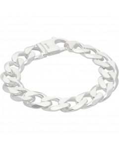 New Sterling Silver 9 Inch Solid Curb Link Mens Bracelet 2.4oz