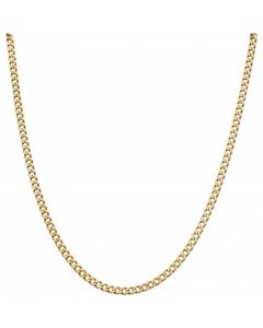 Pre-Owned 9ct Yellow Gold 21.5 Inch Curb Chain Necklace