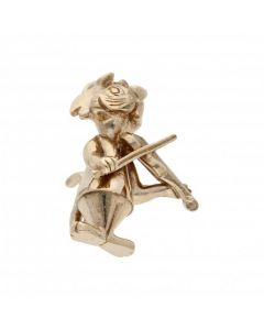 Pre-Owned 9ct Yellow Gold Top Cat Charm