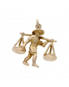 Pre-Owned 9ct Yellow Gold Scales Charm