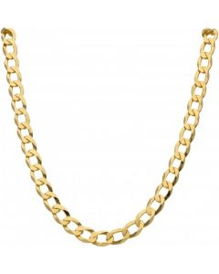 New 9ct Gold Solid 28 Inch Heavy Flat Curb Necklace 1.7oz