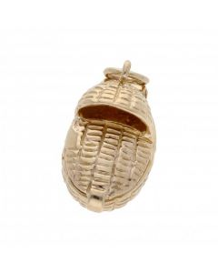 Pre-Owned 9ct Yellow Gold Opening Baby Basket Charm