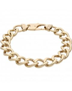 Pre-Owned 9ct Yellow Gold 9.3 Inch Heavy Curb Bracelet