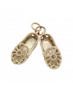 Pre-Owned 9ct Yellow Gold Pair Of Slippers Charm