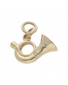 Pre-Owned 9ct Yellow Gold Hollow French Horn Charm