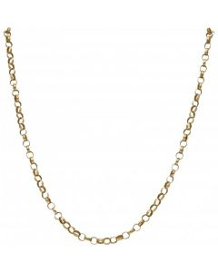 Pre-Owned 9ct Yellow Gold 18 Inch Belcher Chain Necklace