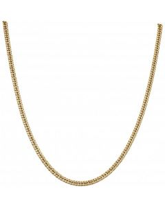 Pre-Owned 9ct Yellow Gold 18 Inch Close Curb Chain Necklace