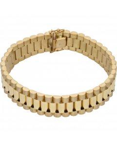 "New 9ct Yellow Gold 8.5"" 16mm Width Rolex Style Bracelet 1.5oz"