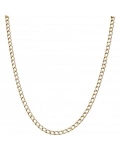 Pre-Owned 9ct Yellow Gold 19 Inch Square Curb Chain Necklace