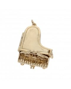 Pre-Owned 9ct Yellow Gold Opening Piano Charm