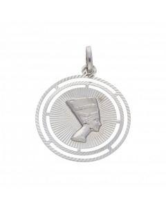 Pre-Owned 9ct White Gold Nefertiti Pendant