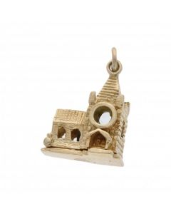 Pre-Owned 9ct Yellow Gold Opening Church Wedding Charm
