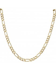 Pre-Owned 9ct Yellow Gold 22 Inch Figaro Chain Necklace