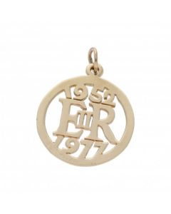 Pre-Owned 9ct Yellow Gold 1952 - 1977 Silver Jubilee Pendant