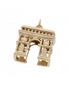 Pre-Owned 9ct Yellow Gold Bridge Gate Charm