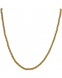 Pre-Owned 9ct Yellow Gold 17.5 Inch Rope Twist Chain Necklace