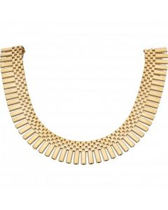 Pre-Owned 9ct Yellow Gold Heavy 16 Inch Cleopatra Style Necklet