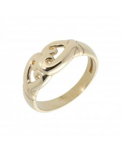 Pre-Owned 9ct Yellow Gold Cutout Scroll Design Dress Ring