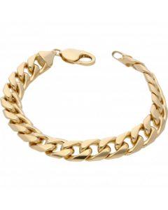 "New 9ct Yellow Gold Heavy 8.5"" Miami Cuban Curb Bracelet 1.4oz"