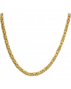 New 9ct Yellow Gold Heavy 24Inch Square Byzantine Necklace 3.4oz