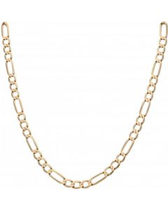 Pre-Owned 9ct Yellow Gold 22.5 Inch Figaro Chain Necklace