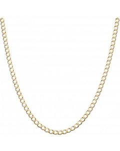 Pre-Owned 9ct Yellow Gold 18.5 Inch Curb Chain Necklace