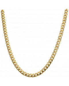 New 9ct Gold 24Inch Solid Heavy Cuban Curb Chain Necklace 1.8oz