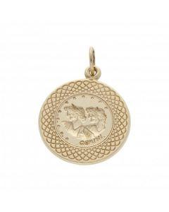 Pre-Owned 9ct Yellow Gold Gemini Horoscope Pendant