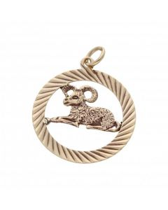 Pre-Owned 9ct Yellow Gold Aries Ram Horoscope Charm