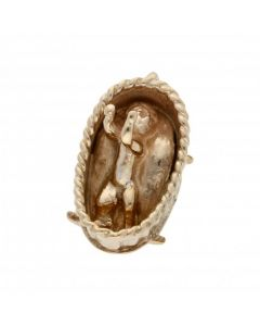 Pre-Owned 9ct Yellow Gold Baby Basket Charm