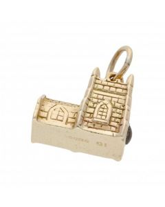 Pre-Owned 9ct Yellow Gold Church Charm