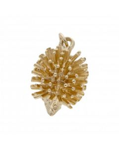 Pre-Owned 9ct Yellow Gold Solid Hedgehog Charm