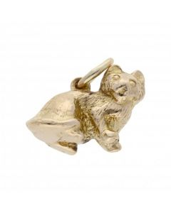 Pre-Owned 9ct Yellow Gold Sitting Cat Charm