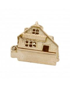 Pre-Owned 9ct Yellow Gold Opening Cabin Charm