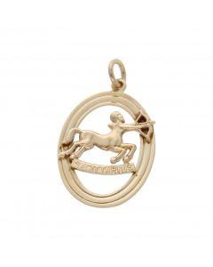 Pre-Owned 9ct Yellow Gold Sagittarius Horoscope Pendant