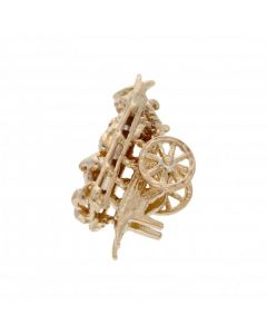 Pre-Owned 9ct Yellow Gold Fruit & Veg Cart Charm