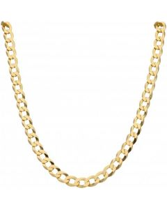 New 9ct Gold Solid 28 Inch Heavy Flat Curb Necklace 1.2oz