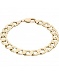 Pre-Owned 9ct Yellow Gold 8.7 Inch Curb Bracelet