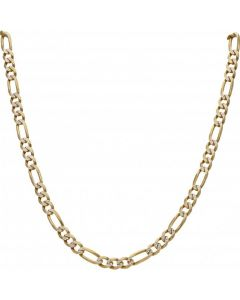 Pre-Owned 9ct Yellow & White Gold 20 Inch Figaro Chain Necklace
