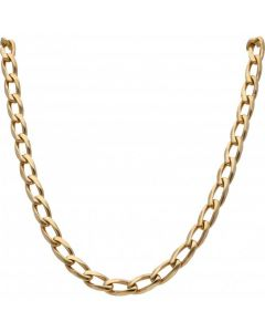 Pre-Owned 9ct Yellow Gold 23 Inch Oval Open Curb Chain Necklace