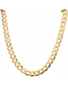 New 9ct Yellow Gold 20 Inch Flat Curb Link Chain Necklace 1.6oz