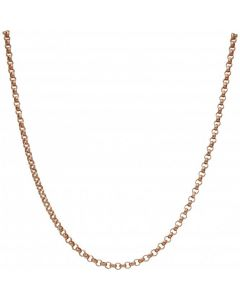Pre-Owned 9ct Rose Gold 28 Inch Belcher Chain Necklace