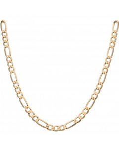 Pre-Owned 9ct Yellow Gold 20 Inch Figaro Chain Necklace