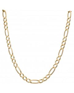 Pre-Owned 9ct Yellow Gold 28 Inch Figaro Chain Necklace