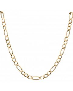 Pre-Owned 9ct Yellow Gold 23 Inch Figaro Chain Necklace