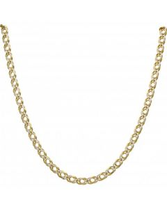 Pre-Owned 9ct Gold 20 Inch Double Curb Chain Necklace